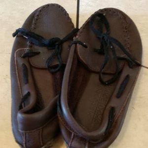 Minnetonka moccasins brown
